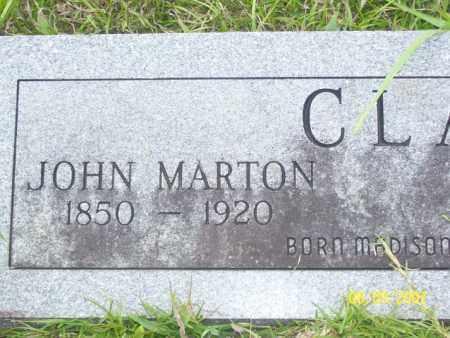 CLARK, JOHN MARTON - Stone County, Arkansas | JOHN MARTON CLARK - Arkansas Gravestone Photos