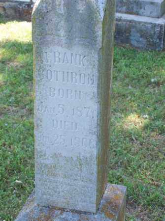COTHRON, FRANK - Stone County, Arkansas | FRANK COTHRON - Arkansas Gravestone Photos