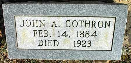 COTHRON, JOHN A. - Stone County, Arkansas | JOHN A. COTHRON - Arkansas Gravestone Photos