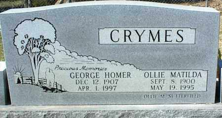 CRYMES, OLLIE MATILDA - Stone County, Arkansas | OLLIE MATILDA CRYMES - Arkansas Gravestone Photos