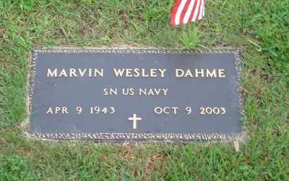 DAHME, MARVIN WESLEY (MIL) - Stone County, Arkansas | MARVIN WESLEY (MIL) DAHME - Arkansas Gravestone Photos