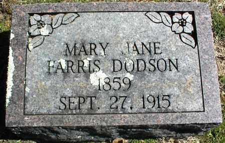 DODSON, MARY JANE - Stone County, Arkansas | MARY JANE DODSON - Arkansas Gravestone Photos