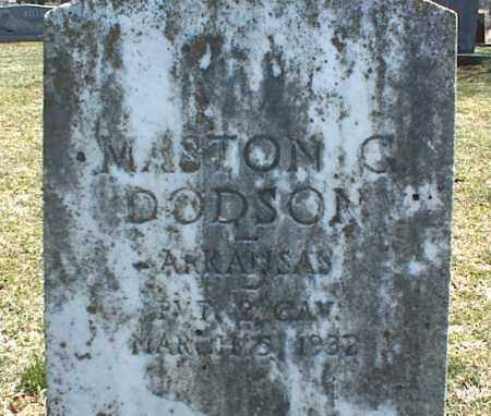 DODSON, MASTON G. - Stone County, Arkansas | MASTON G. DODSON - Arkansas Gravestone Photos