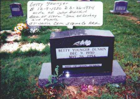 DUNKIN, BETTY - Stone County, Arkansas | BETTY DUNKIN - Arkansas Gravestone Photos