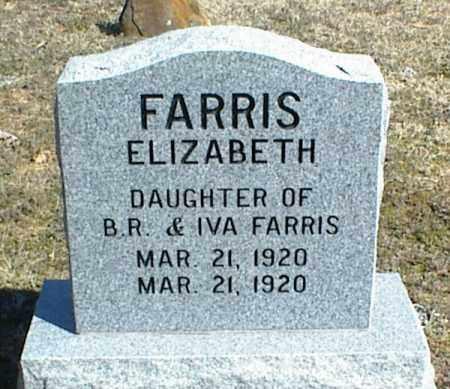 FARRIS, ELIZABETH - Stone County, Arkansas | ELIZABETH FARRIS - Arkansas Gravestone Photos