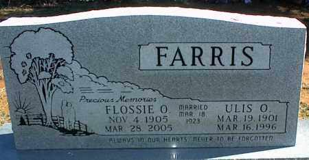 FARRIS, ULIS O. - Stone County, Arkansas | ULIS O. FARRIS - Arkansas Gravestone Photos