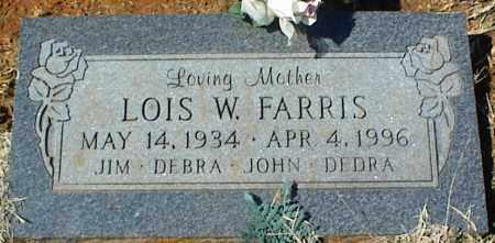 FARRIS, LOIS W. - Stone County, Arkansas | LOIS W. FARRIS - Arkansas Gravestone Photos