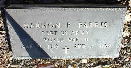 FARRIS (VETERAN WWII), HARMON P - Stone County, Arkansas | HARMON P FARRIS (VETERAN WWII) - Arkansas Gravestone Photos