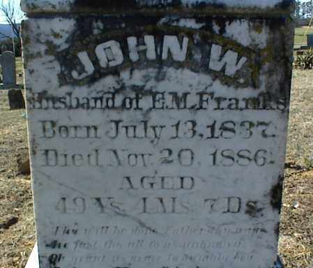 FRANKS, JOHN W. - Stone County, Arkansas | JOHN W. FRANKS - Arkansas Gravestone Photos