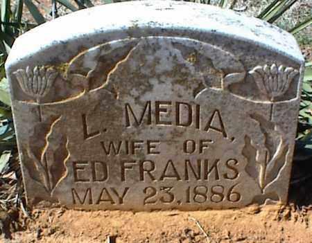 FRANKS, L. MEDIA - Stone County, Arkansas | L. MEDIA FRANKS - Arkansas Gravestone Photos