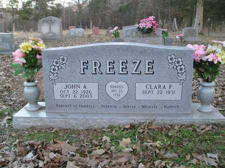 FREEZE, JOHN A. - Stone County, Arkansas | JOHN A. FREEZE - Arkansas Gravestone Photos