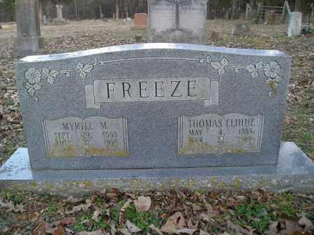 FREEZE, THOMAS ELIHUE - Stone County, Arkansas | THOMAS ELIHUE FREEZE - Arkansas Gravestone Photos