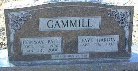 GAMMILL, CONWAY PAUL - Stone County, Arkansas | CONWAY PAUL GAMMILL - Arkansas Gravestone Photos