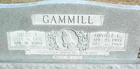 GAMMILL, ORVILLE C. - Stone County, Arkansas | ORVILLE C. GAMMILL - Arkansas Gravestone Photos