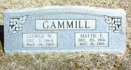 GAMMILL, GEORGE W. - Stone County, Arkansas | GEORGE W. GAMMILL - Arkansas Gravestone Photos