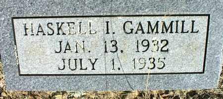 GAMMILL, HASKELL I. - Stone County, Arkansas | HASKELL I. GAMMILL - Arkansas Gravestone Photos