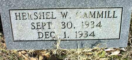 GAMMILL, HERSHEL W. - Stone County, Arkansas | HERSHEL W. GAMMILL - Arkansas Gravestone Photos