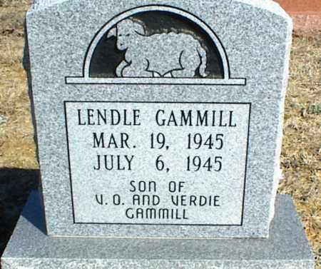 GAMMILL, LENDLE - Stone County, Arkansas | LENDLE GAMMILL - Arkansas Gravestone Photos