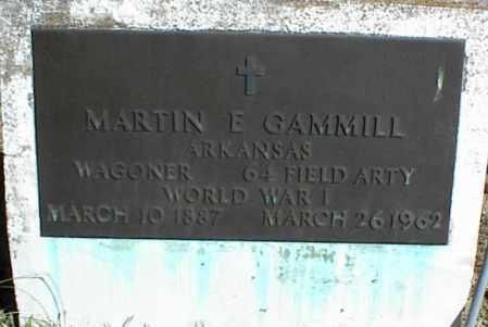 GAMMILL (VETERAN WWI), MARTIN E - Stone County, Arkansas | MARTIN E GAMMILL (VETERAN WWI) - Arkansas Gravestone Photos