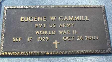 GAMMILL (VETERAN WWII), EUGENE W - Stone County, Arkansas | EUGENE W GAMMILL (VETERAN WWII) - Arkansas Gravestone Photos