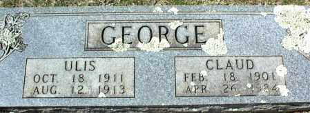 GEORGE, ULIS - Stone County, Arkansas | ULIS GEORGE - Arkansas Gravestone Photos