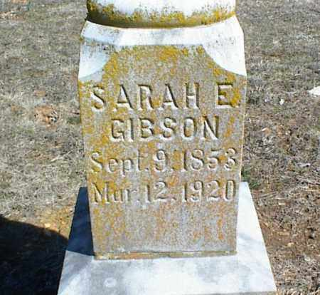 GIBSON, SARAH ELIZABETH - Stone County, Arkansas | SARAH ELIZABETH GIBSON - Arkansas Gravestone Photos