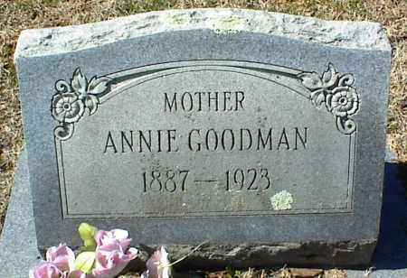 GOODMAN, ANNIE - Stone County, Arkansas | ANNIE GOODMAN - Arkansas Gravestone Photos