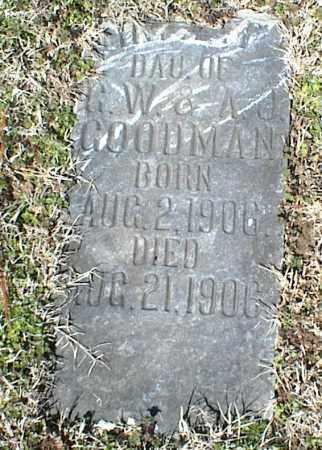 GOODMAN, INFANT DAUGHTER - Stone County, Arkansas | INFANT DAUGHTER GOODMAN - Arkansas Gravestone Photos