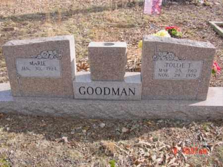 GOODMAN, TOLLIE TTLER - Stone County, Arkansas | TOLLIE TTLER GOODMAN - Arkansas Gravestone Photos