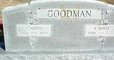 GOODMAN, V. MADGE - Stone County, Arkansas | V. MADGE GOODMAN - Arkansas Gravestone Photos