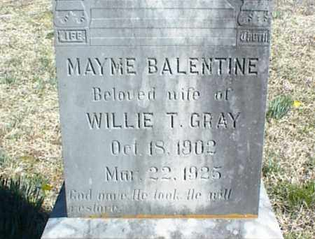 BALENTINE GRAY, MAYME - Stone County, Arkansas | MAYME BALENTINE GRAY - Arkansas Gravestone Photos