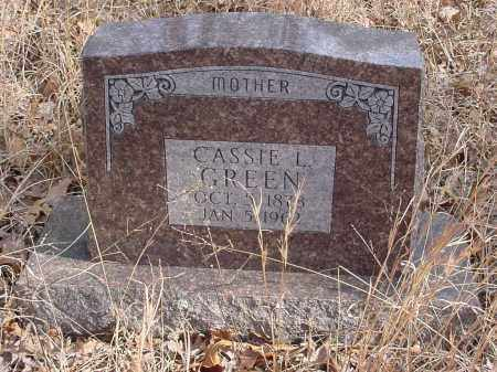 GREEN, CASSIE - Stone County, Arkansas | CASSIE GREEN - Arkansas Gravestone Photos