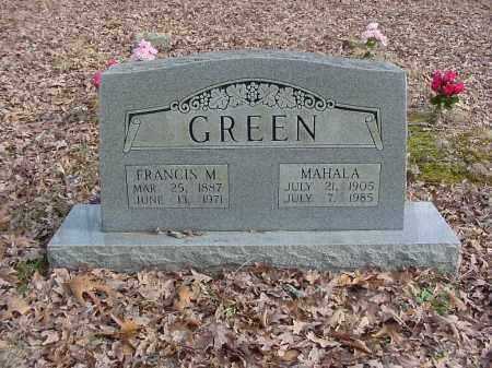 GREEN, FRANCIS M - Stone County, Arkansas | FRANCIS M GREEN - Arkansas Gravestone Photos