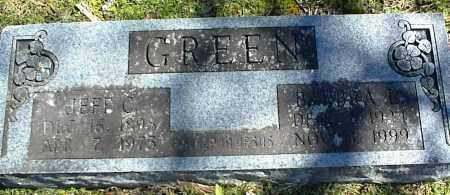GREEN, JEFF C. - Stone County, Arkansas | JEFF C. GREEN - Arkansas Gravestone Photos