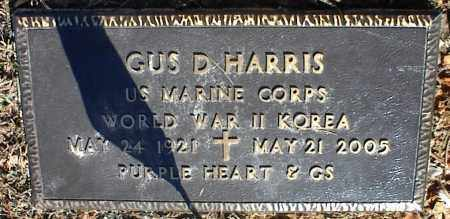 HARRIS (VETERAN 2 WARS), GUS D - Stone County, Arkansas | GUS D HARRIS (VETERAN 2 WARS) - Arkansas Gravestone Photos