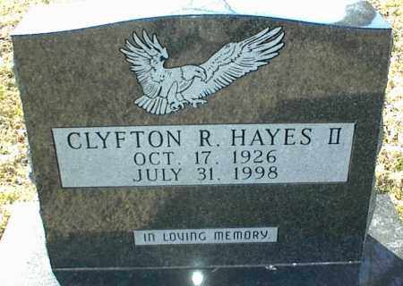 HAYES II, CLYFTON R. - Stone County, Arkansas | CLYFTON R. HAYES II - Arkansas Gravestone Photos