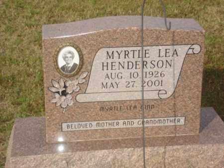 HENDERSON, MYRTLE LEA - Stone County, Arkansas | MYRTLE LEA HENDERSON - Arkansas Gravestone Photos