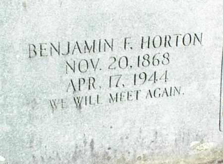 HORTON, BENJAMIN F. - Stone County, Arkansas | BENJAMIN F. HORTON - Arkansas Gravestone Photos