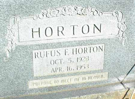 HORTON, RUFUS F. - Stone County, Arkansas | RUFUS F. HORTON - Arkansas Gravestone Photos