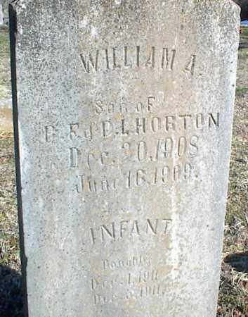 HORTON, WILLIAM A. - Stone County, Arkansas | WILLIAM A. HORTON - Arkansas Gravestone Photos