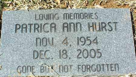 HURST, PATRICA ANN - Stone County, Arkansas | PATRICA ANN HURST - Arkansas Gravestone Photos