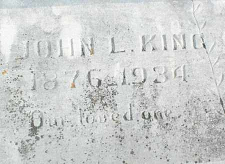 KING, JOHN L. - Stone County, Arkansas | JOHN L. KING - Arkansas Gravestone Photos
