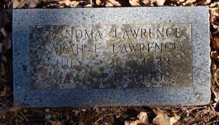 BAKER LAWRENCE, SARAH E. - Stone County, Arkansas | SARAH E. BAKER LAWRENCE - Arkansas Gravestone Photos