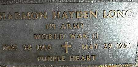 LONG (VETERAN WWII), HARMON HAYDEN - Stone County, Arkansas | HARMON HAYDEN LONG (VETERAN WWII) - Arkansas Gravestone Photos