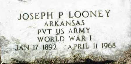 LOONEY  (VETERAN WWI), JOSEPH P - Stone County, Arkansas | JOSEPH P LOONEY  (VETERAN WWI) - Arkansas Gravestone Photos