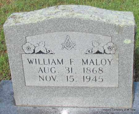 MALOY, WILLIAM F - Stone County, Arkansas | WILLIAM F MALOY - Arkansas Gravestone Photos