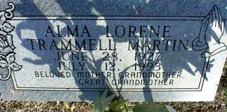 TRAMMELL MARTIN, ALMA LORENE - Stone County, Arkansas | ALMA LORENE TRAMMELL MARTIN - Arkansas Gravestone Photos