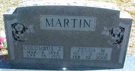 MARTIN, COLUMBUS Z. - Stone County, Arkansas | COLUMBUS Z. MARTIN - Arkansas Gravestone Photos