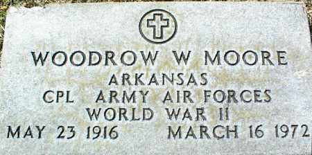 MOORE (VETERAN WWII), WOODROW W - Stone County, Arkansas | WOODROW W MOORE (VETERAN WWII) - Arkansas Gravestone Photos