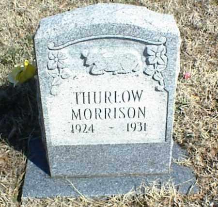 MORRISON, THURLOW - Stone County, Arkansas | THURLOW MORRISON - Arkansas Gravestone Photos